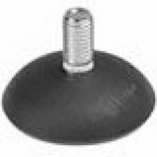 Опора резьбовая с круглым основанием диаметром 50 мм и металлической резьбой М10х20.
