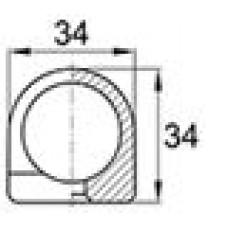 Наконечник пластиковый для труб с наружным диаметром 25 мм.