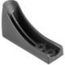 Угловой пластиковый подпятник для круглых труб с внешним диаметром 20-25 мм.