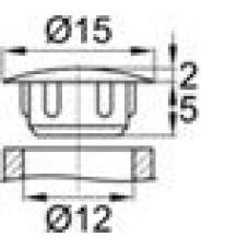 Заглушка пластиковая с тонкой шляпкой 14 мм для отверстия диаметром 12 мм.