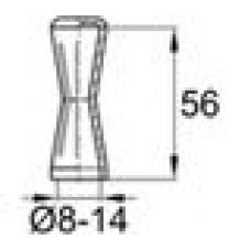 Защита пластиковая для арматуры диаметра 8-14 мм