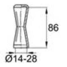 Защита пластиковая для арматуры диаметра 14-28 мм, модель PAM, ораньжевый