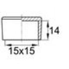 Заглушка пластиковая наружная для труб квадратного сечения с внешними габаритами сечения 15х15 мм