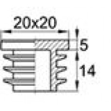 Заглушка пластиковая квадратная 20х20, практичная, черная