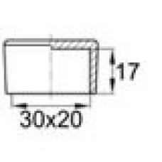 Заглушка пластиковая наружная для труб прямоугольного сечения с внешними габаритами сечения 20х30 мм.