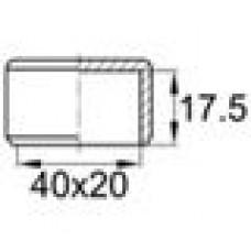 Заглушка пластиковая наружная для труб прямоугольного сечения с внешними габаритами сечения 20х40 мм.