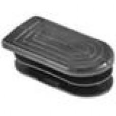 Заглушка пластиковая внутренняя для труб полуовального сечения с внешними габаритами сечения 20х40 мм
