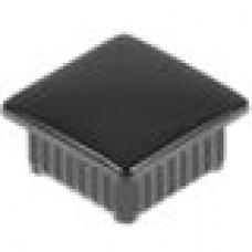 Заглушка пластиковая внутренняя с тонкой шляпкой для труб квадратного сечения с внешними габаритами сечения 20х20 мм и толщиной стенки 1.2 мм