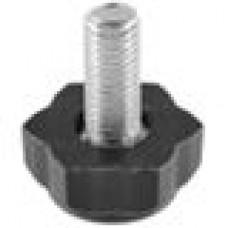 Опора резьбовая с металлическим оцинкованным резьбовым стержнем М8х25 и шестигранным пластиковым основанием 22 мм.