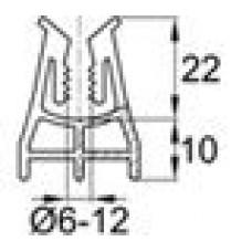 Пластиковый фиксатор для арматуры 6-12 мм, защитный слой 10 мм