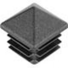 Пластиковая внутренняя заглушка с высокой декоративной шляпкой в форме «домика» для труб квадратного сечения 25x25 мм и стенкой 1.0-3.0 мм.