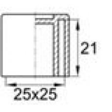 Заглушка пластиковая наружная для труб квадратного сечения с внешними габаритами сечения 25х25 мм