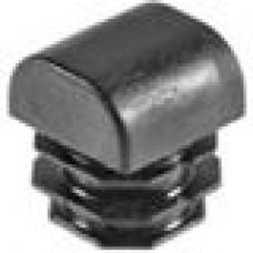 Заглушка пластиковая внутренняя с толстой полусферической шляпкой для труб квадратного сечения 25х25 мм и толщиной стенки трубы 0.5-2.5 мм.