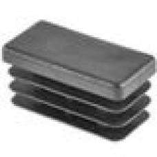 Заглушка пластиковая внутренняя с толстой шляпкой для труб прямоугольного сечения с внешними габаритами сечения 25х50 мм и толщиной стенки трубы 1.0-5.0 мм.