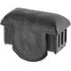 Заглушка пластиковая внутренняя с толстой шляпкой для труб прямоугольного сечения с внешними габаритами сечения 25х50 мм