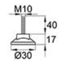 Резьбовая опора М10х40 с круглым основанием 30 мм.
