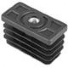 Заглушка пластиковая прямоугольная 30х60, с металлической резьбой М8, чёрная