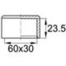 Заглушка пластиковая наружная для труб прямоугольного сечения с внешними габаритами сечения 30х60 мм.
