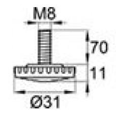 Опора резьбовая М8х70 с круглым основанием D31 мм