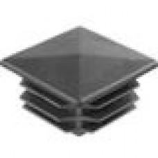 Пластиковая внутренняя заглушка с декоративной шляпкой в форме «домика» для труб квадратного сечения 40х40 мм.