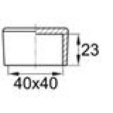 Заглушка пластиковая наружная для труб квадратного сечения с внешними габаритами сечения 40х40 мм