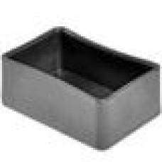 Заглушка пластиковая наружная для труб прямоугольного сечения с внешними габаритами сечения 40х60 мм.
