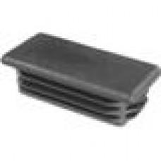 Заглушка пластиковая внутренняя с ребрами и плоской шляпкой для труб прямоугольного сечения с внешними габаритами сечения 80x40 мм и толщиной стенки 1.5-5.0 мм.