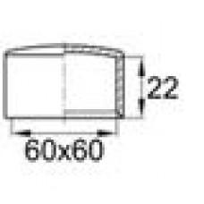 Заглушка пластиковая наружная для труб квадратного сечения с внешними габаритами 60х60 мм.