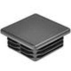 Заглушка пластиковая внутренняя с толстой шляпкой для труб квадратного сечения 60х60 мм и толщиной стенки трубы 0.8-3.5 мм.