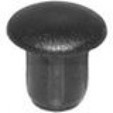 Заглушка пластиковая с тонкой шляпкой 6.4 мм для отверстия диаметром 4 мм.