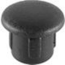 Заглушка пластиковая круглая под отверстие d6, черная