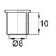 Универсальная заглушка для внутреннего и наружного использования. Подходит для прутков диаметром 8 мм.