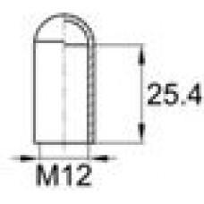 Термостойкая наружная заглушка для труб круглого сечения с внешним диаметром 11.6 мм.