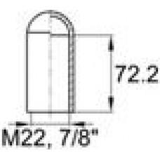 Термостойкая наружная заглушка для труб круглого сечения с внешним диаметром 21.5 мм.