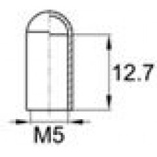 Термостойкая наружная заглушка для труб круглого сечения с внешним диаметром 4.8 мм.