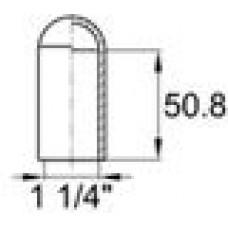 Термостойкая наружная заглушка для труб круглого сечения с внешним диаметром 41.3 мм.