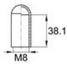 Термостойкий колпачок для труб/прутков круглого сечения с внешним диаметром 7.9 мм. Подходит под резьбу М8. Выдерживает температуру до 177 °С.