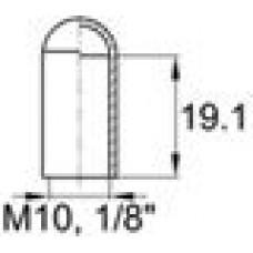 Термостойкая наружная заглушка для труб круглого сечения с внешним диаметром 9.5 мм. Подходит под резьбу М10, GAS-BSP 1-8