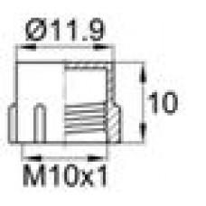 Пластиковый колпачок для наружной резьбы M10x1.