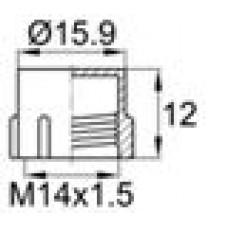 Пластиковый колпачок для наружной резьбы M14x1.5.