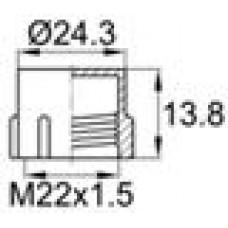Пластиковый колпачок для защиты наружной резьбы M22x1.5.