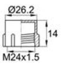 Пластиковый защитный колпачок для наружной резьбы M24x1.5.