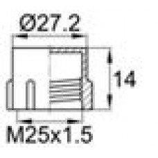 Пластиковый колпачок для наружной резьбы M25x1.5.