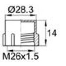Пластиковый колпачок для наружной резьбы M26x1.5.