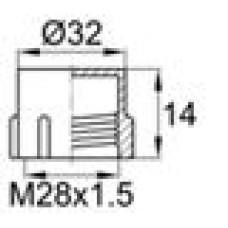 Пластиковый колпачок под наружную резьбу M28x1.5.