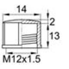 Пластиковый колпачок для наружной резьбы M12x1.5.