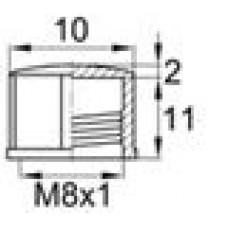 Пластиковый колпачок с внутренней резьбой M8x1.