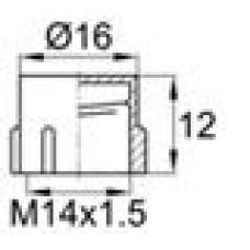 Пластиковый колпачок для защиты наружной резьбы M14 в процессе производства, хранения и транспортировки.