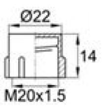 Круглый пластиковый колпачок для защиты наружной резьбы M20.