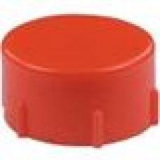 Колпачок, отлитый из пластика в красном цвете.